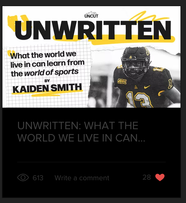 Uncut Boone article Kaiden Smith