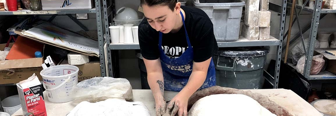Sope works with clay