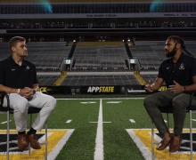 Kaiden Smith interviews App State quarterback Zac Thomas