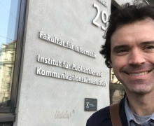 Dr. Greg Perreault shown in Austria during his Fulbright experience