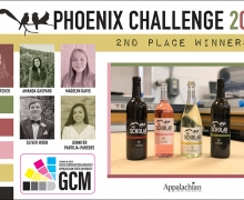 GCM students designed and printed an award-winning wine label