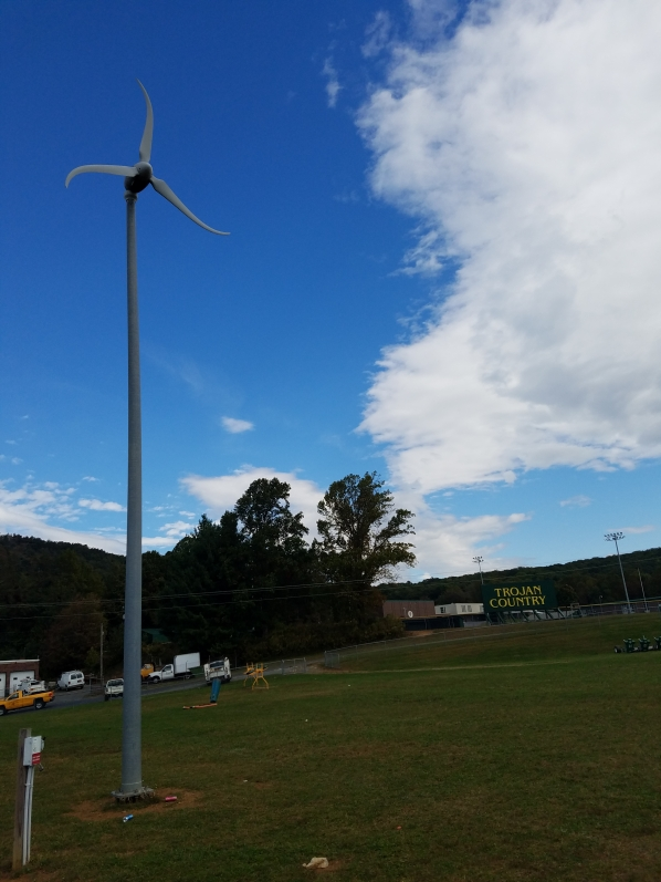 Wind turbine at Allegheny High School
