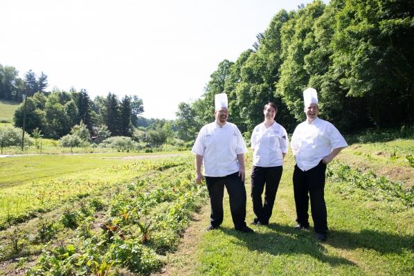 Chefs visit farm