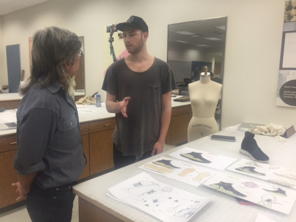 Reebok Designer Mentors Students In Applied Design Capstone Course College Of Fine And Applied Arts
