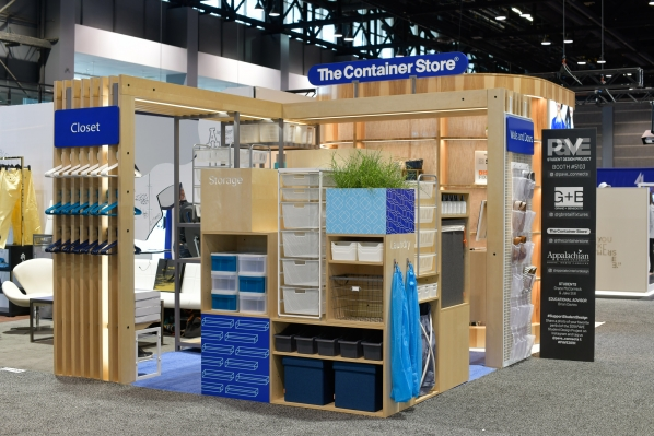 The pop up shop Appalachian students designed for The Container Store