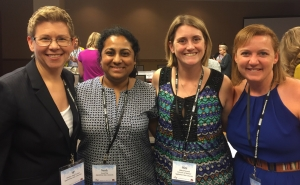 Faculty at the AEJMC conference