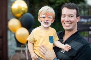 David English and his son