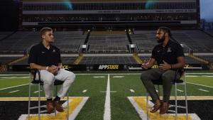 Kaiden Smith interviews App State quarterback Zac Thomas