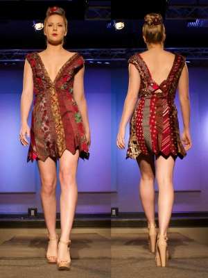Dress design featured at the 2015 showcase