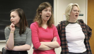 "Students rehearse for ""Miscast"""