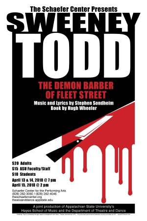 """""""Sweeney Todd"""" poster"""
