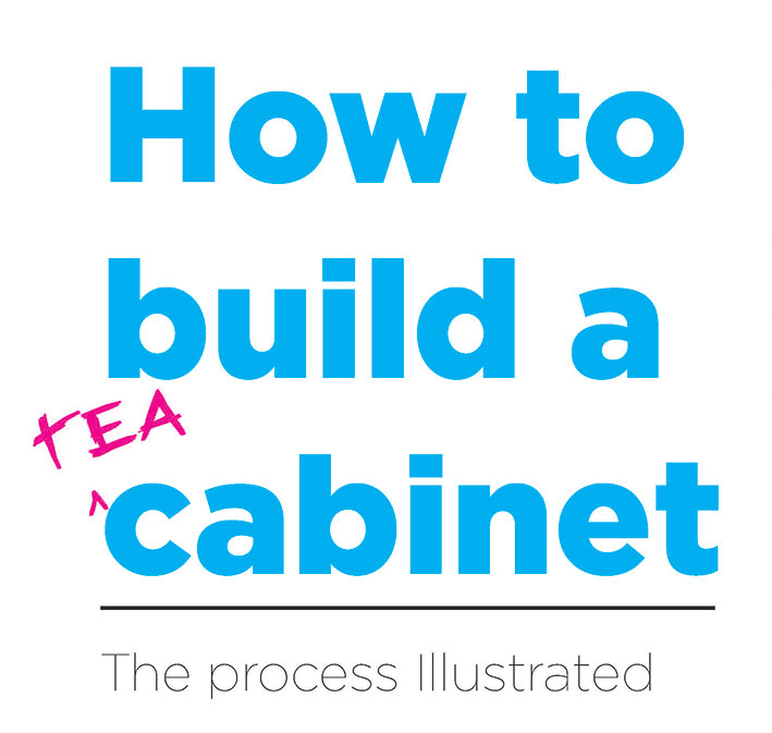 How to Build a Tea Cabinet - the process illustrated