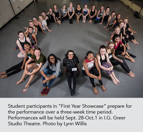 Showcase students