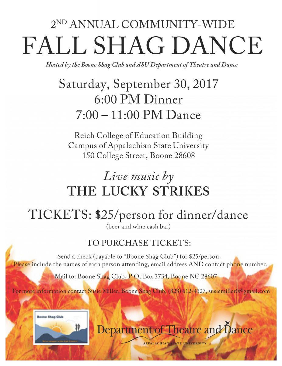 Fall shag dance poster