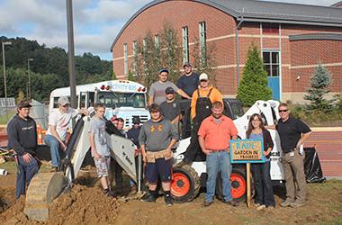 Rain Garden initiative at Watauga High School