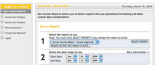 Run a Report Graphic