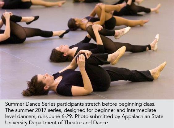 dancers stretching