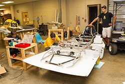 Students build solar vehicle in preparation for intercollegiate races
