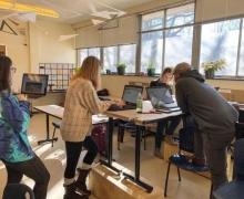 IDEX students working