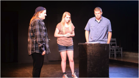 Students act in the 2017 24-hour Arts Festival