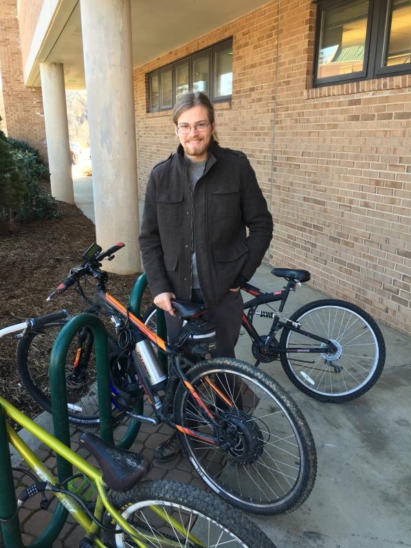Ryan Gilliespie with e-bike