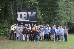 Students outside the IBM Design Studios