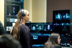 Kelly Hunter in the AppTV control room