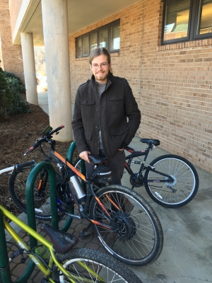 Ryan Gilliespie with e-bike
