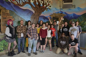 A collaborative public art project between Appalachian State University art students and local business Appalachian Mountain Brewery (AMB) exemplifies the importance of connecting the university and community by giving students a unique educational experience and offering a local business a one-of-a-kind art installation.
