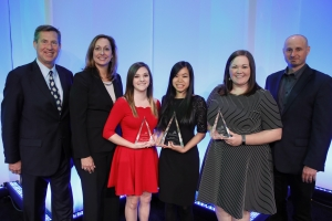 Student award winners pictured with Eaton representatives