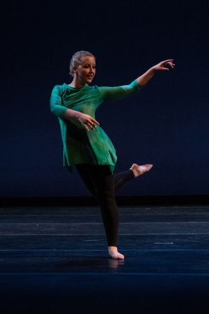 A student performs in the annual spring dance ensemble