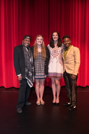 Ben Vereen with the student performers