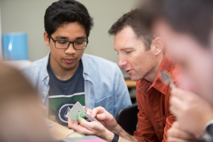 Richard Elaver and students