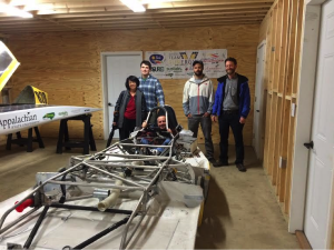 Cuban professors try the App State solar vehicle