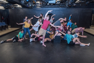 "Two dozen first year and transfer theatre students are taking part in rehearsals for the 2019 edition of the First Year Showcase. The theme for this year's production is ""Stasis and Change,"" giving both participants and audience members a chance to reflect upon their entry into the college and university environment.  Photo credit: Lynn Willis"