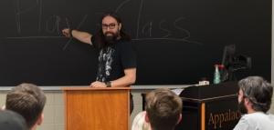 Professor Mark Bentley teaches video game discourse