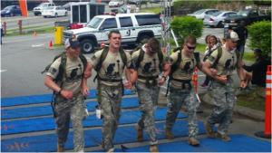 Cadets participating in the 9th annual Mountain Man Memorial March