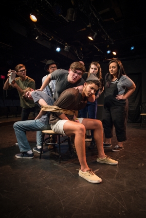 """Students rehearse a scene from """"Much Ado About Nothing"""""""