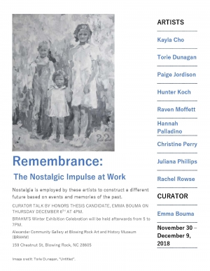 """Poster for """"Remembrance"""""""