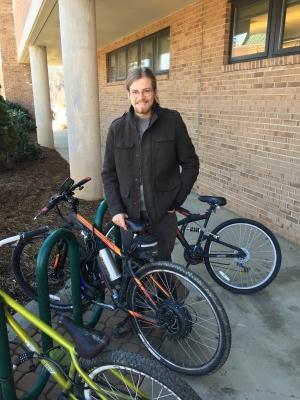 Ryan Gillespie with his e-bike
