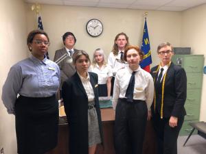 "Art students perform in ""Civil Presence"""